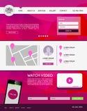 Desantowa strona internetowa Obrazy Stock