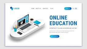 Desantowy nauczania online poj?cia biel ilustracja wektor