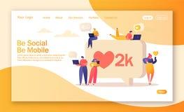 Desantowy strona projekt na ogólnospołecznym medialnym sieć temacie ilustracja wektor