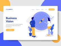 Desantowy strona szablon biznesmen z wzroku i kompasu ilustracji pojęciem Nowożytny płaski projekta pojęcie strona internetowa pr ilustracji