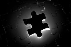 Desaparecidos negros de la una sola pieza del rompecabezas Imágenes de archivo libres de regalías