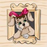 Desaparecidos pequenos da menina do cachorrinho Imagens de Stock Royalty Free