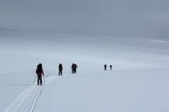 Desaparecimento na paisagem do inverno de Noruega Imagem de Stock Royalty Free