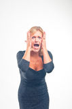 Desapontamento e pânico Fotos de Stock Royalty Free