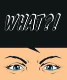 Desaprovação, dilema, ilustração cínica, crítica dos olhos Fotografia de Stock Royalty Free