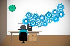Desarrollador de software, codificación del freelancer ilustración del vector