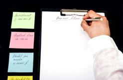 Desarrollar un plan empresarial Fotografía de archivo libre de regalías