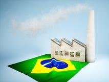 Desarrollo brasileño de la industria ilustración del vector