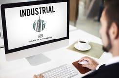 Desarrollo Constructi de la estructura de la fábrica de la organización industrial Fotografía de archivo
