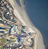 Desarrollo costero aéreo Imagen de archivo