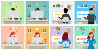 Desarrollo de la idea y de la solución stock de ilustración
