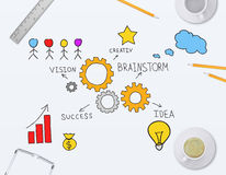 Desarrollo de las ideas coherentes para el negocio Imágenes de archivo libres de regalías