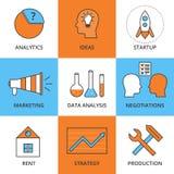 Desarrollo de negocios linear del icono del vector común stock de ilustración