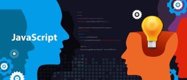 Desarrollo de programas de programación del código del lenguaje de la escritura de Java ilustración del vector