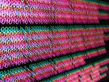 Desarrollo de programas del código binario Imágenes de archivo libres de regalías
