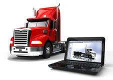 Desarrollo del camión stock de ilustración