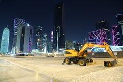 Desarrollo del centro financiero en Doha, Qatar imágenes de archivo libres de regalías