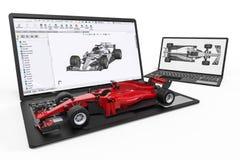 Desarrollo del coche F1 con el software 3D libre illustration