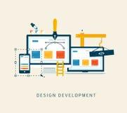 Desarrollo del diseño ilustración del vector