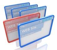 Desarrollo del Web site Fotos de archivo libres de regalías