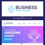 Desarrollo hermoso de la marca del concepto del negocio, idea, bulbo, p ilustración del vector
