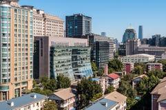 Desarrollo inmobiliario en Pekín - el distrito de Dongcheng - China Fotos de archivo