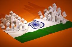 Desarrollo inmobiliario indio Imagen de archivo