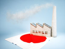 Desarrollo japonés de la industria ilustración del vector