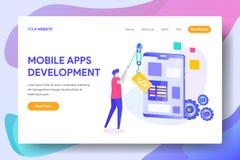 Desarrollo móvil de Apps imágenes de archivo libres de regalías