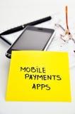 Desarrollo móvil de los apps de las actividades bancarias Fotos de archivo