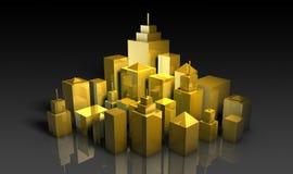 Desarrollo urbano ilustración del vector