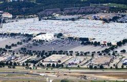 Desarrollo: Vista aérea de Redential y de las áreas comerciales Fotografía de archivo libre de regalías