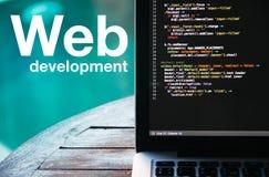 Desarrollo web Imagen de archivo libre de regalías