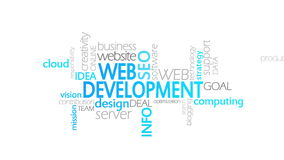 Desarrollo web, tipografía animada libre illustration