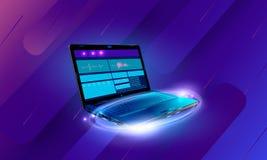 Desarrollo web y codificación Sitio web cruzado del desarrollo de la plataforma Página de Internet de la disposición o interfaz a ilustración del vector