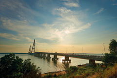 Desaru桥梁,新山 免版税图库摄影