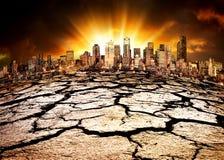 Desastre ambiental Foto de archivo libre de regalías