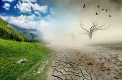 Desastre ambiental foto de stock