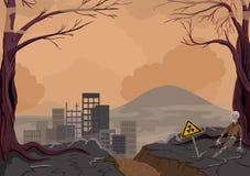 Desastre ambiental en el planeta ilustración del vector