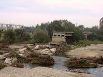 Desastre de inundação do verão Imagens de Stock