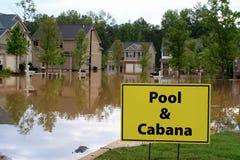 Desastre de inundación fotografía de archivo libre de regalías