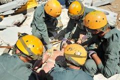 Desastre de la emergencia del edificio Imagen de archivo