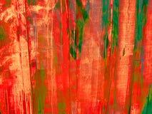 Desastre de la pintura del rociado (con pulverizador) en una pared imagenes de archivo