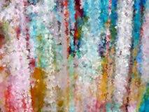 Desastre de la pintura del rociado (con pulverizador) en una pared fotografía de archivo libre de regalías