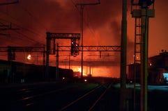 Desastre del tren en Viareggio, Italia Foto de archivo