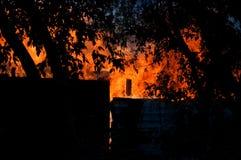 Desastre do fogo Imagem de Stock Royalty Free