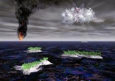 Desastre ecológico Imagen de archivo libre de regalías