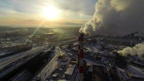 Desastre ecológico aéreo almacen de video