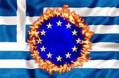 Desastre griego de la economía stock de ilustración