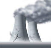 Desastre nuclear con la radiación Fotografía de archivo